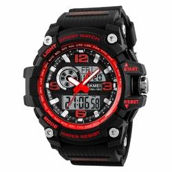 ZEGAREK MĘSKI sport SKMEI 1283 LED red - RED