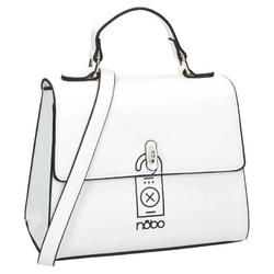 Kuferek damski torebka ekoskóra nobo biała i5170