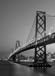 Brooklyn bridge nocą - fototapeta