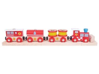 Straż pożarna drewniany pociąg
