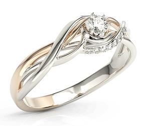 Pierścionek z białego i różowego złota z brylantami bp-71bp - białe i różowe  diament