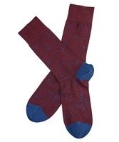 Stylowe bordowe bawełniane skarpety falke dot w grochy rozmiar 39-42