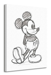 Mickey mouse sketched - single - obraz na płótnie