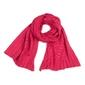 Szalik szal damski ażurowy intensywny różowy - różowy