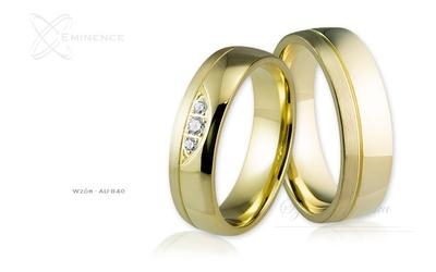 Obrączki ślubne - wzór au-840