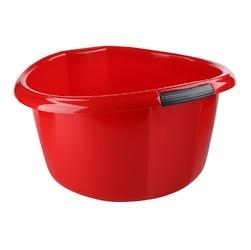 Miska na pranie  łazienkowa z uchwytami plastikowa okrągła solidna bentom czerwona 30 l