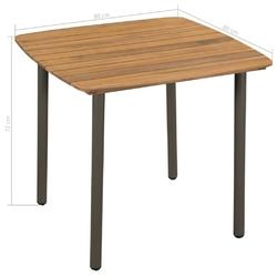 Stół ogrodowy lilo 80 cm drewniany
