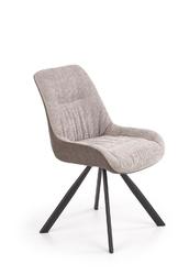 Krzesło tapicerowane nowoczesne - metalowe nogi - k393