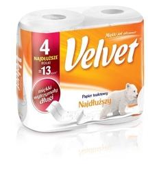 Velvet najdłuższy, papier toaletowy, 2 warstwy, 4 roleki
