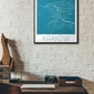 Rzym - niebieska mapa
