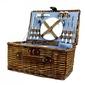 Kosz piknikowy koszyk z wikliny termotorba sztućce 4os