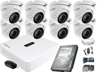 Zestaw do monitoringu 8 kamerowy hikvision hiwatch fullhd