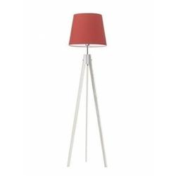 Lampa podłogowa aruba abażur czerwony stelaż biały - czerwony