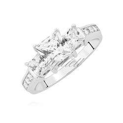 Srebrny pierścionek pr.925 z białymi cyrkoniami