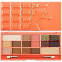Makeup revolution 16 eyeshadows i love makeup chocolate and peaches, cienie do powiek 22g
