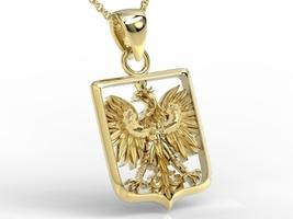 Wisiorek z żółtego złota z orłem bpw-36z