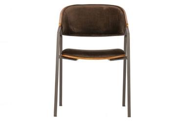Be pure krzesło do jadalni clan aksamit brązowy 800028-b