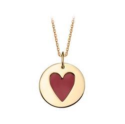 Staviori zawieszka czerwone serce emalia. żółte złoto 0,333. średnica 15 mm