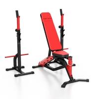 Zestaw ms34 | ławka dwustronna + stojaki regulowane - marbo sport