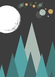 Noc - plakat wymiar do wyboru: 21x29,7 cm