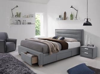 Łóżko tapicerowane małżeńskie solla szare 160x200
