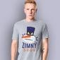 Zimny drań t-shirt męski jasny melanż xxl