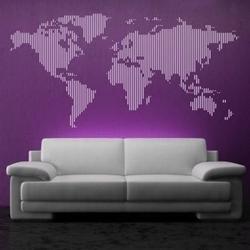 Szablon malarski mapa świata 02