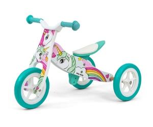 Milly mally look unicorn duży rowerek biegowy 2w1 + prezent 3d