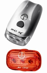 Zestaw lamp deone hl-de 049 przód 3-led + tył 3 led