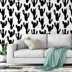 Tapeta na ścianę - black cactus , rodzaj - próbka tapety 50x50cm