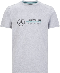 Koszulka mercedes amg petronas f1 logo szara - szary
