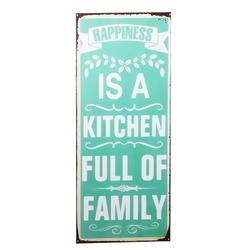 Tabliczka metalowa kitchen