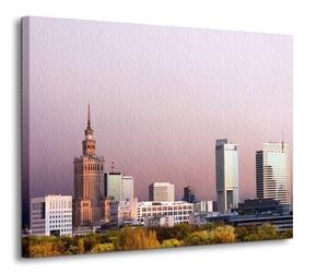 Warszawa, panorama miasta - obraz na płótnie