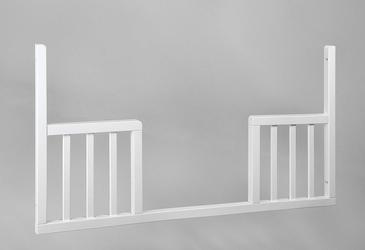 Wymienny bok do łóżeczka 120x60 uniwersalny toddler rail troll nursery k. biały
