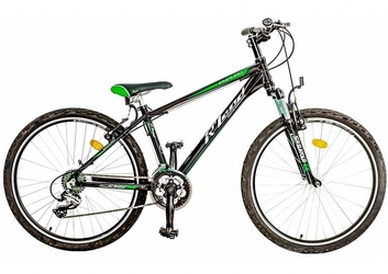 Rower rland mtb 26 enduro 15 czarno-zielony