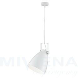 Studio lampa wisząca 1 biała