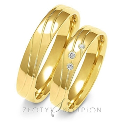 Obrączki ślubne złoty skorpion – wzór au-a137