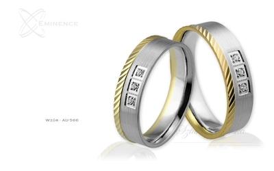 Obrączki ślubne - wzór au-566