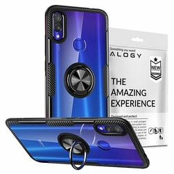 Etui Alogy Ring Holder Clear Armor do Xiaomi Redmi 7 czarne + szkło