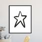 Scandi star - plakat dla dzieci , wymiary - 30cm x 40cm, kolor ramki - czarny