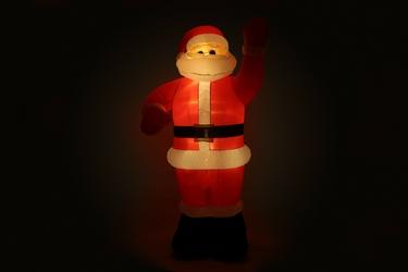 Mikołaj świecący dmuchany 2,4 m, z podświetleniem