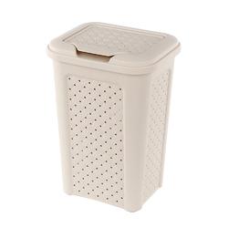 Kosz  pojemnik na pranie arianna 10 l kremowy