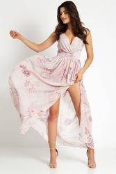 Długa powiewna sukienka w kwiaty