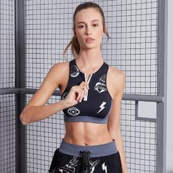 Biustonosz sportowy labellamafia fitness bra black