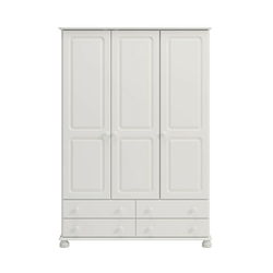Biała romantyczna szafa 3 drzwiowa richmond