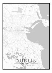 Dublin mapa czarno biała - plakat Wymiar do wyboru: 42x59,4 cm