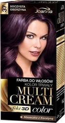Joanna multi cream color, farba do włosów, 37 soczysta oberżyna