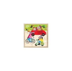 Puzzle drewniane apli kids - samochód