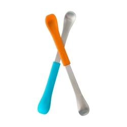 Dwustronne łyżeczki boon - blueorange