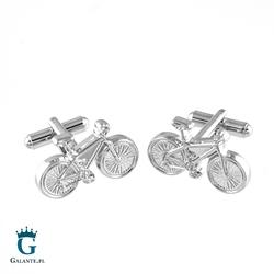 Spinki do mankietów srebrne rowery ps-182